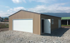 steel metal garages